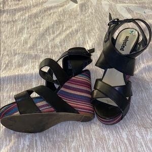 Unlisted platform wedge sandals 8M